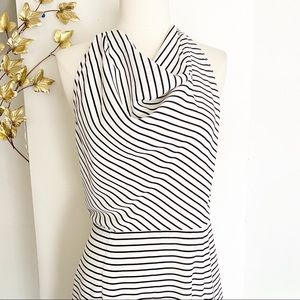 Finders Keepers Striped Halter Dress  Large